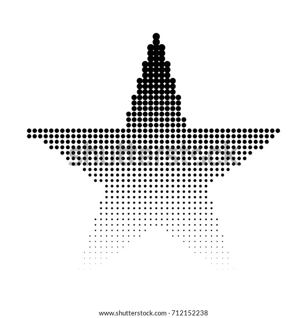 Abstract Dotted Star Background Halftone Effect Stock Vector