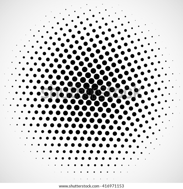 Abstract Dotted Vector Background Radial Dots Stock Vector