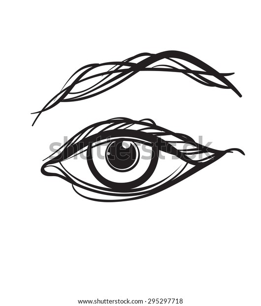 Abstract Drawing Eye Your Design Isolated Stock Vector