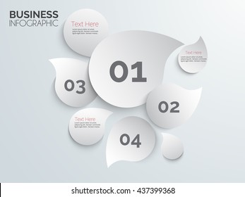 Abstract drop effect infographic template. Vector eps10.