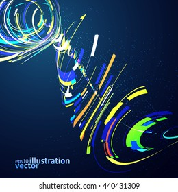 Abstract dynamic background, futuristic wavy vector illustration eps10