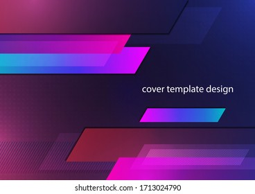 Abstract dynamic background, simple geometric shapes, blocks, stripes. Bright gradient colors. Template for corporate design. Vector illustration
