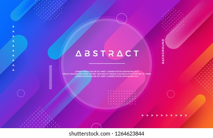 Abstract dynamic color background design. Modern Trendy futuristic gradient shapes. Blue, pink background. EPS10 design element