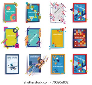 Abstract Dynamic Shape Vector Frame BigSet, Vector Illustration.