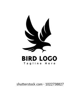 abstract eagle bird fly catch logo