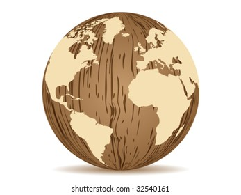 abstract earth wooden texture vector illustration