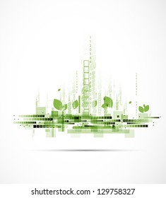 abstract eco futuristic high computer technology business background
