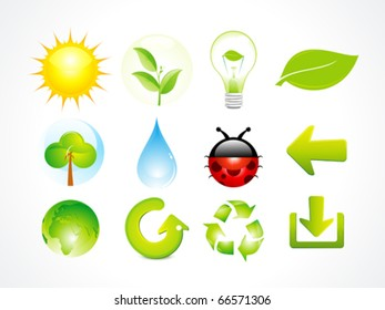 abstract eco multiple elements icon vector illustration