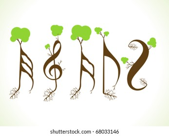 abstract eco musical words vector illustration
