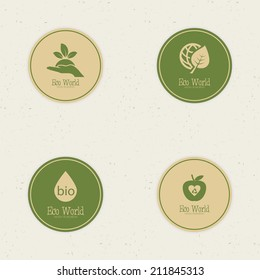 abstract eco world labels on a special background