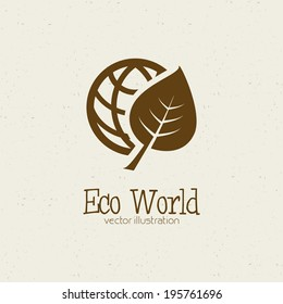 abstract eco world symbol on a white background