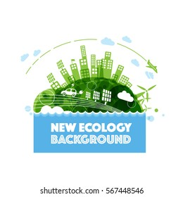 Abstract ecology world background.