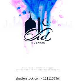 Abstract Eid Mubarak background greeting design