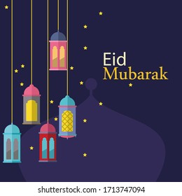 Abstract eid mubarak decorative religious background