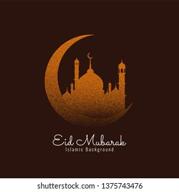 Abstract Eid Mubarak Islamic design background vector
