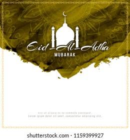 Abstract Eid-Al-Adha mubarak background