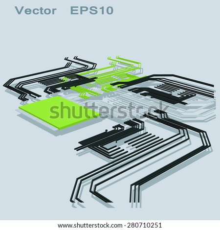 Strange Abstract Electrical Schematic Stock Vector Royalty Free 280710251 Wiring Digital Resources Sapebecompassionincorg