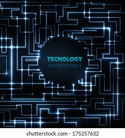 abstract electronics blue background