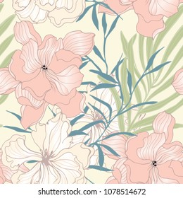 Abstract elegance pattern with floral background.