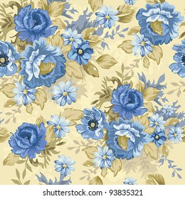Abstract Elegance seamless floral pattern. Beautiful vector illustration texture.