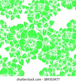 Abstract elegance seamless pattern with floral background