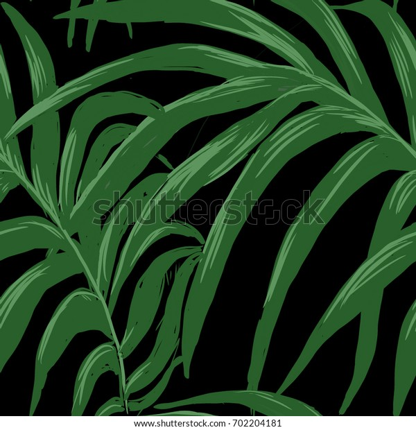 Abstract elegance seamless pattern with leaf background.