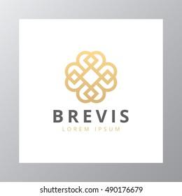 Abstract elegant business logo icon vector design. Universal creative premium symbol. Luxury logotype.