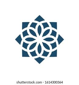 Abstract elegant flower logo icon vector design. Universal creative premium symbol. Graceful jewel vector sign.