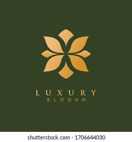 Abstract Elegant flower Shape Logo Sign Symbol Icon. luxury logo for villa and hotel. elegant logo design