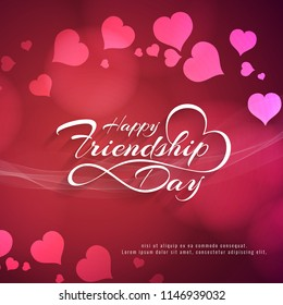 Abstract elegant Happy Friendship day decorative background vector