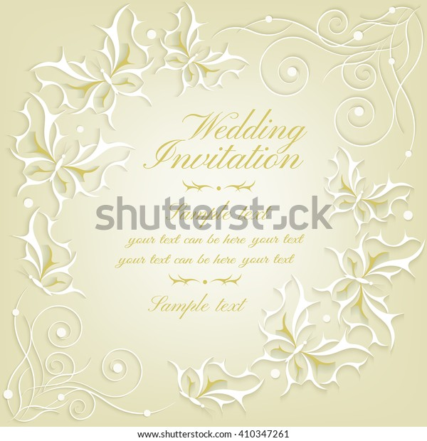 Abstract Elegant Invitation Card Greeting Card Stock Vector ...