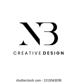 Abstract elegant letter NB logo design vector for business company