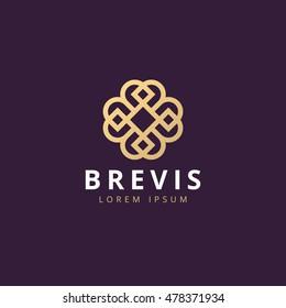 Abstract elegant logo icon vector design. Universal creative premium symbol. Luxury logotype.