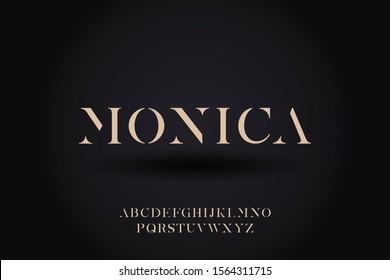 Abstract elegant luxury typeface design vector