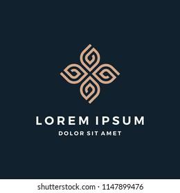 Abstract Elegant Ornament Logo Design
