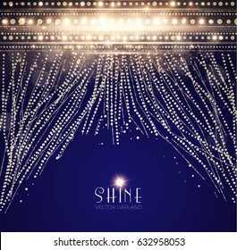Abstract Elegant Shining Background. Twenties, Thirties and Art Deco Style. Bokeh, Lights and Fog Background. Vector illustration