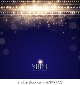 Abstract Elegant Shining Background. Twenties, Thirties, Art Nouveau and Art Deco Style. Bokeh, Lights and Fog Background. Vector illustration