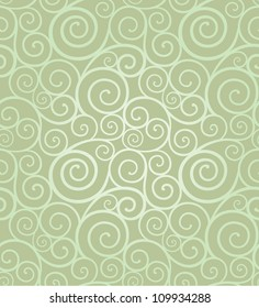 Abstract elegant swirl seamless composition made of spirals