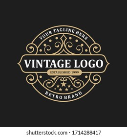 abstract elegant vintage logo design template