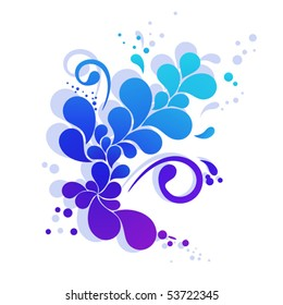 Abstract element looks like colorful flower. Vector illustration for Your design