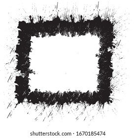Abstract element made with ink blot