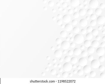 Abstract.  Embossed circle white Background ,light and shadow. copy space .Vector