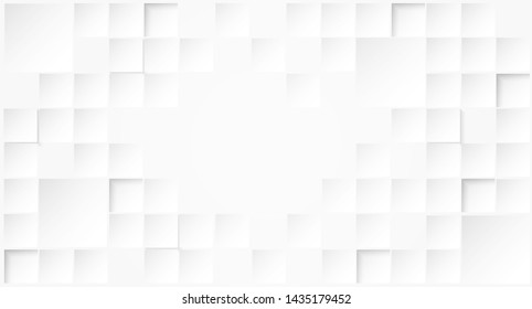 Abstract. Embossed paper square white Background ,light and shadow .Vector.