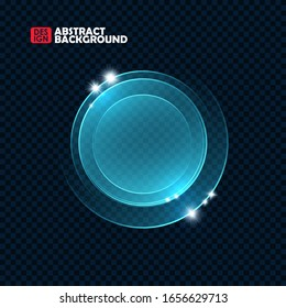 Abstract energy with luminous of glow circles. Background of blue glowing lines. Graphic concept for your design