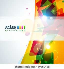 abstract eps10 colorful background design art
