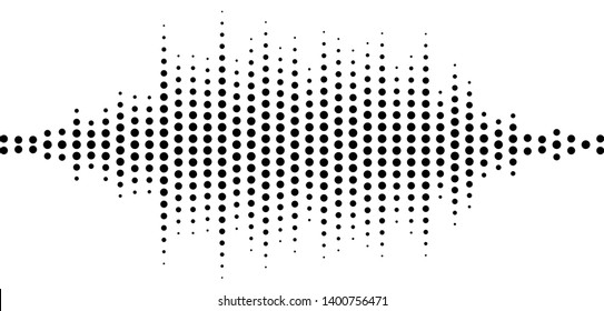 Abstract equalizer element with dotted lines of the channels