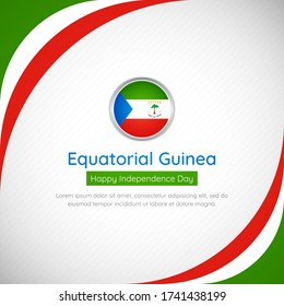 Abstract Equatorial Guinea country flag background. Creative happy independence day of Equatorial Guinea vector illustration