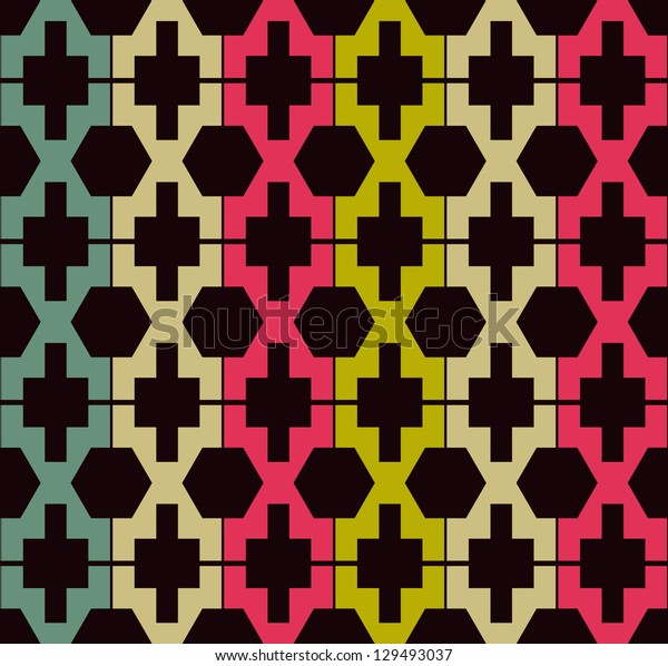 Abstract Ethnic Geometric Pattern background
