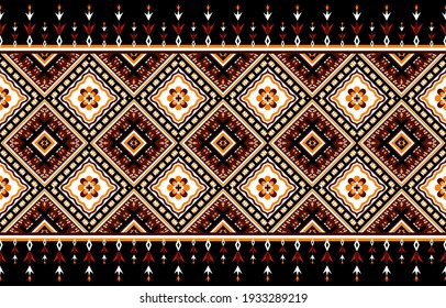 Abstract ethnic geometric pattern,print,border,tradition,ethnic oriental floral seamless pattern,illustration,Gemetric ethnic oriental ikat pattern traditional