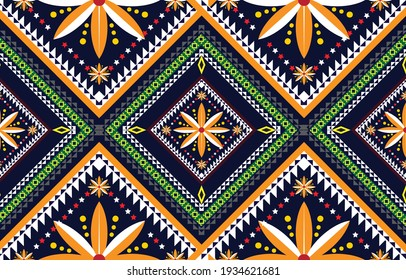 Abstract ethnic geometric pattern,print,border,tradition,ethnic oriental floral seamless pattern,illustration